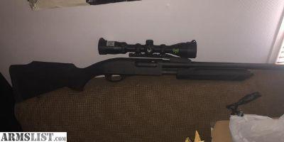 For Sale: Remington 870 20ga scoped w/rifled barrel and ammo