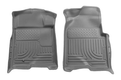 Sell Husky Liners 18332 09-13 Ford F-150 Gray Custom Floor Mats 1st Row motorcycle in Winfield, Kansas, US, for US $96.95