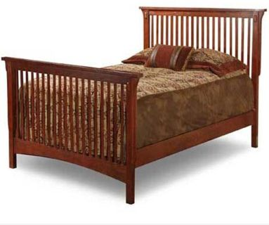 Mission style twin bed