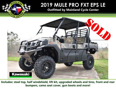 2019 Kawasaki Mule PRO-FXT EPS Camo Utility SxS La Marque, TX