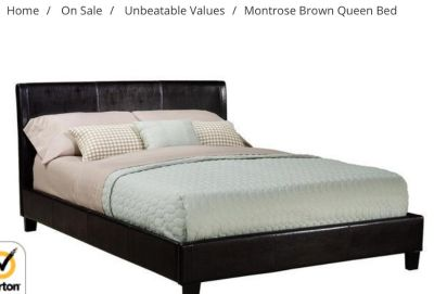 Brand New Queen Bed FRAME SET - Head Board Rails and Foot Board