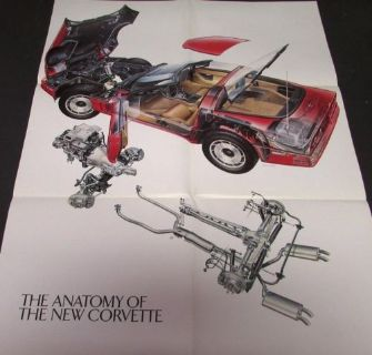 Find Original 1984 Chevrolet Corvette Dealer Sales Poster Anatomy of the New Corvette motorcycle in Holts Summit, Missouri, United States, for US $9.84