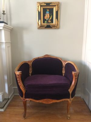 French Louis XV Style Settee and Side Chair
