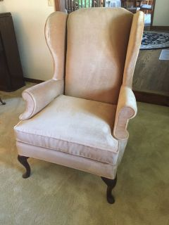 Velvet Wing Back Chair