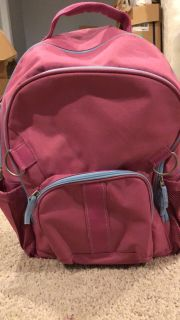 New Pottery Barn backpack. Pink and Blue Roller backpack