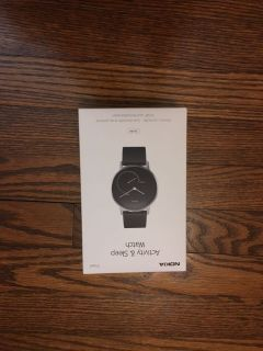 New-never-our-of-box Nokia Activity & Sleep Watch. Steel. Original price $129.99. See comments for back of box. Gallatin unless going to H v