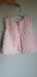 Pink shag vest-perfect condition
