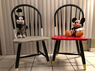 One of a kind Mickey Chairs