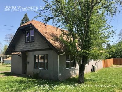 South Eugene 4 bed/2 bath with large fenced yard - available now!