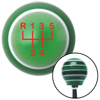 Purchase Red Shift Pattern 18n Green Stripe Shift Knob with M16 x 1.5 Insert 427 rat rod motorcycle in Portland, Oregon, United States, for US $41.21