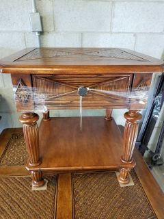 Tropical Style End Table by Broyhill