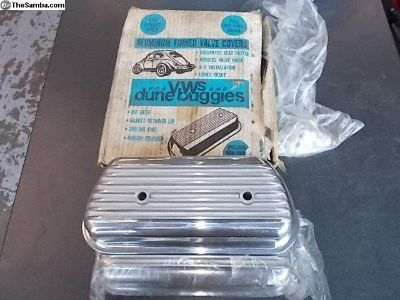 Vintage NEW Aluminum Valve Covers Bolt On
