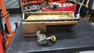 Milodon BBC oil pan and JW flex plate