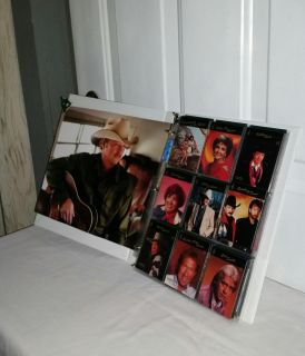 Country music 99 great stars cards. Allen Jackson front of notebook. $8