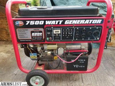 For Sale: 7500 W Generator