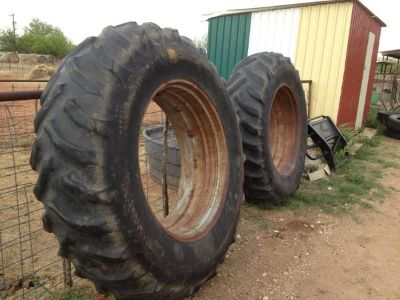 18438 radial  Rear Tractor Tires and weels