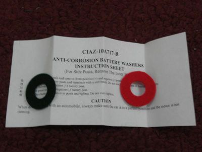 Purchase FORD BATTERY TERMINAL POST PADS - ANTI-CORROSION BATTERY WASHERS - GM - MOPAR motorcycle in Wadsworth, Ohio, US, for US $4.89