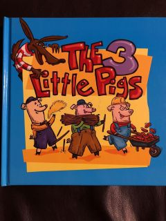 The 3 Little Pigs Hardcover Book. Very Nice Condition