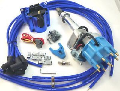 Buy SB Chevy SBC Small Cap H.E.I HEI Distributor Kit W/ Plug Wires E-Core Coil Blue motorcycle in Los Angeles, California, United States, for US $145.99