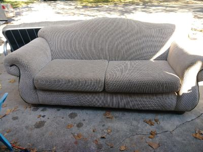 Sofa approx 7 ft from arm-arm