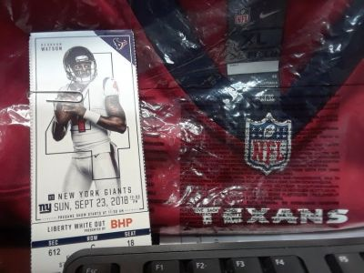 HOUSTON TEXANS / NEW YORK GIANTS