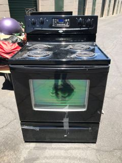 Black electrical stove