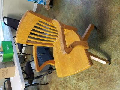 Oak desk chair