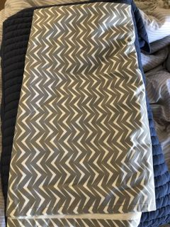 3 Grey & white Curtain Panels & lined 56x84 $15 for All 3