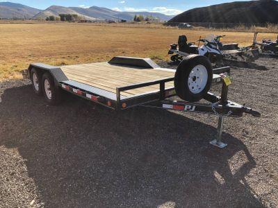 2012 PJ Trailers 16ft Dual Axle Flatbead Trailer Kamas, UT