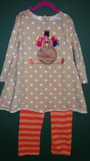 Turkey...thanksgiving Botique outfit. Size 6 BNWOT