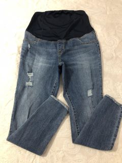 Isabel Maternity Skinny Distressed Jeans - size 8