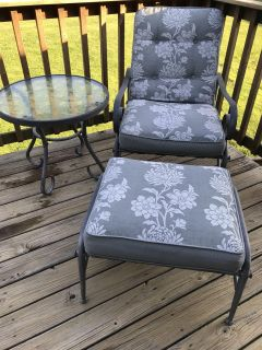Reclining Chair~Ottoman~and Table