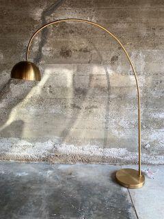 Arching Brass Floor Lamp