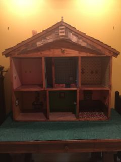 Antique Handmade Wood Doll House