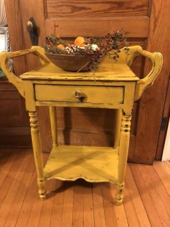 Restyled Antique Chippy Accent Table