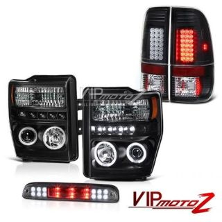 Buy Brightest CCFL Halo Headlights Black Tail Lights LED 08 -10 F250 Harley Davidson motorcycle in Walnut, California, United States, for US $421.86
