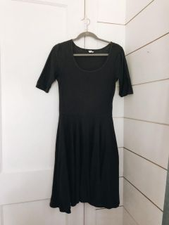 Charcoal Gray Scoop Neck Dress (M)