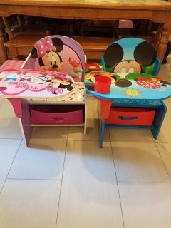 Mickey and Minnie mouse desks