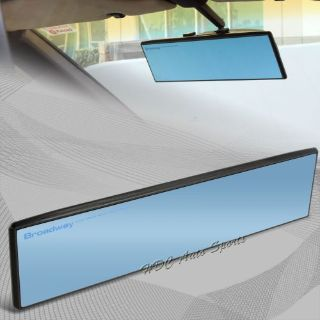 Sell Broadway 300MM Wide Flat Interior Clip On Rear View Blue Tint Mirror Universal 5 motorcycle in Walnut, California, United States