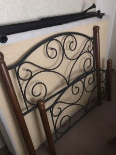 Bed Frame for Full Bed/ Head and Foot Board with Rails