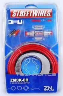 Find STREET WIRES ZN3K-08 8 GAUGE SINGLE COMPLETE INSTALLATION KIT FOR AMPLIFIER motorcycle in Gardena, California, United States, for US $34.98
