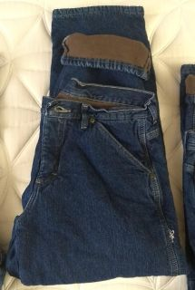 3 Pairs Men s Wrangler Flannel Lined Jeans Buy Separately or Couple