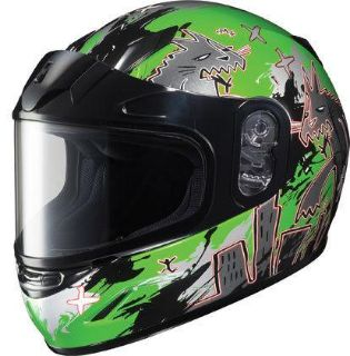 Buy HJC CL-Y Katzilla Green Small Dual Lens Youth Snowmobile Snow Sled Helmet Sml motorcycle in Ashton, Illinois, US, for US $98.99