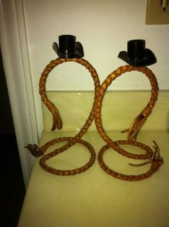 2 pair of candle holders