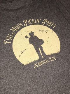 Full Moon Pickin Party Nashville TN Percy Warner Park Festival Super Soft and Stretchy Sz. S