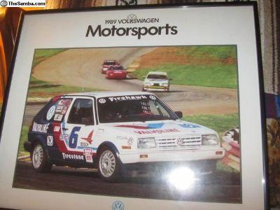 1989 Framed VW Motor sports