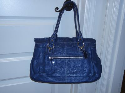 Authentic Blue Coach handbag