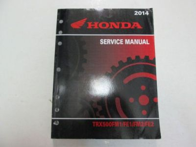 Sell 2014 Honda TRX500FM1/FE1/FM2/FE2 Service Repair Manual MINOR WEAR FACTORY OEM motorcycle in Sterling Heights, Michigan, United States, for US $44.99