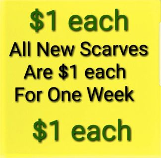 All New Scarves $1 each