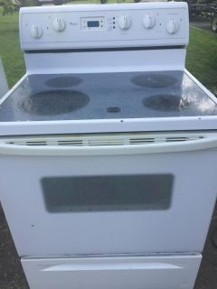 Whirlpool stove and microwave!